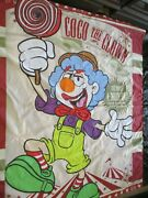 Vintage Coco The Clown Sideshow Banner