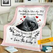 Personalized Blanket Sonogram Photo, New Daddy Blanket Fathers Day Gift Blanket