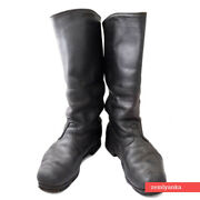 Vintage Russian Soviet High Boots Soft Leather Original Rank Red Army Size 43