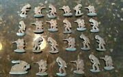 Lot Of 24 Lead Toy Soldier Holding Rifle Indian Figures Vintage Metal