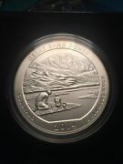 2014 P Us Mint Five Ounce Silver Atb Great Sand Dunes W/ Coa And Box 5 Oz Nr4