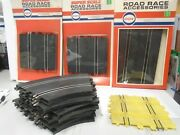 19 Sections Of 1960's Vintage Eldon And Cox 1/32 Scale Slot Car Tracks