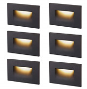 Cloudy Bay Dimmbale Upgraded 3 Color 120v Led Indoor Outdoor Step 3w 55lm,stair