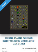 Old School Runescape Account-hand Trained/no Email/dt-mith Gloves/avas Pure-osrs