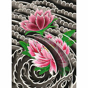 Peony I By David Simmes Traditional Japanese Tattoo Floral Artwork Canvas Print