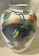 Vintage Andrea By Sadek Large Ovid Hand Painted Pottery Vase