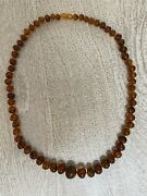 Amber. Vintage Russian Amber 26 Neckless. Circa 1930.