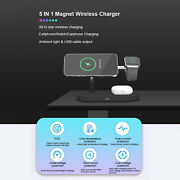 For Iwatch Iphone 5in1 Wireless Charger Dock Pad 15w Fast Charger