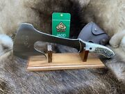 Hatchet Hunting Axe Outdoor Machete With Stag Handles And Sheath Mint Nice+++