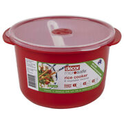Decor Microsafe Rice Cooker And Vegetable Steamer With Paddle Food Pot Bowl 2.75l