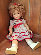 1500 Composition Shirley Temple Doll With Original Pin 1934 Pickup Only