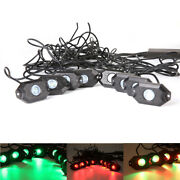 Set Of 8 Multi-color Rgb Led Rock Lights Off Road Wireless Bluetooth Music Truck