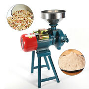 Electric Grinder Machine Dry Feed Flour Mill Cereals Grain Corn Wheat And Funnel