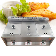 18l 5.9 Deep Commercial Gas Fryer Table Food Warmer Steamer Ng Propane Fryers
