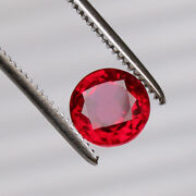 Natural Mozambique Red Ruby 3.85 Ct Perfect Round Cut Loose Certified Gemstone