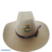 Royal Canadian Air Force Cowboy Hat Rockmount Size 7 And 1/2 Pin Denver Pinback