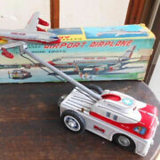 Nomura Toy Airplane Towing Car Tin Toys With Box