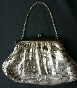 Vintage Silver Mesh Whiting And Davis Evening Bag