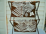 Napkins-by Vera---8 Pcs--brown/white--butterfly/fern--15 X 16---vintage Orig