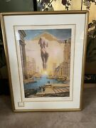 Salvador Dali Dali Hand Signed Lithograph On Japan Paper 1977 Of Gala Wife
