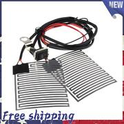 12v Motorcycle Electric Handlebar Heated Grip Pads Warmers Suit Universal Atv