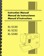 Brother Xl-5130 Xl-5232 Xl-5340 Sewing Machine Owner's Instruction Manual
