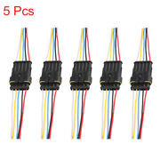 5pcs 5 Pins Way Car Waterproof Electrical Wire Cable Automotive Connector