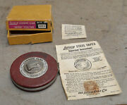 Lufkin C213 Chrome Clad 50' Anchor Steel Tape Rule Collectible Box And Paperwork