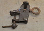 Antique Blacksmith Vise Small With Anvil And Bench Mount Collectible Early Tool