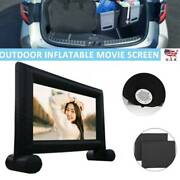 16 Ft Inflatable Movie Outdoor Projector Screen Portable With Blower And Carry Bag