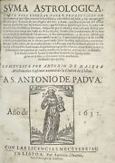 Early Scientific Treatise By A Portuguese Astronomer - Important For Climate