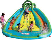 Inflatable Waterslide Rocky Mountain River Race Bouncer Multicolor New