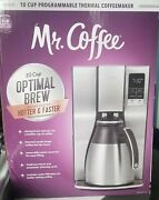 Mr. Coffee Optimal Brew 10-cup Programmable Maker Thermal Carafe Stainless Steel