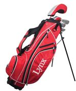 New Lynx Golf Junior Boys 13 Piece Complete Set W/bag Graphite Ages 8-11 Red