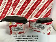 Brake Pad Fit For Lexus Rx350 Rx450h 2010-2015 Oem Factory Front And Rear Set