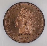 1884 Indian Head Cent Penny Proof Coin Ngc Pf67 Rb Red Brown
