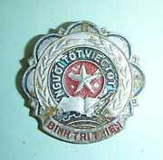 1960and039s Nlf Vc - Badge - Good People - Quang Tri - Hwy 9 - Vietnam War - 5054