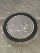 2010 Canadian 🇨🇦maple Leaf🍁 1oz Silver Coin .9999🥈💰🍁 In Capsule 💊