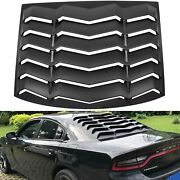 Rear Window Louvers Sun Shade Scoop Cover For Dodge Charger 2011-2021