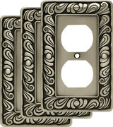 Franklin Brass W10110v-r Paisley Single Duplex Outlet Wall Plate