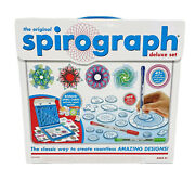 The Original Spirograph Deluxe Set 45+ Pieces By Kahootz Wheels And Rings