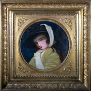 After George Romney 1734andndash1802 - Early 20th Century Oil Lady Emma Hamilton