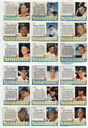 1962 Post Cereal Baseball Complete Set 200 Cards Overall Low-mid Gra Id253233