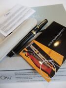 Omas Fountain Pen 18k750 Solid Gold Milord Nib F With Box