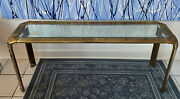 Mcm Mid Century John Widdicomb Brass And Glass Waterfall Console Table 62 We Ship
