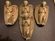 Vintage 4 Metal Angels Covers For Outside Of Building Or Wall