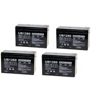Upg 12v 8ah Battery Replacement For Sports Tutor Tennis Tutor - 4 Pack