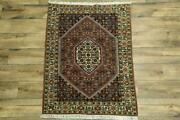 Excellent Geometric Traditional Bidjar Area Rug Medallion Oriental Carpet 4and039x5and039