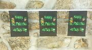 Happy St Patricks Day Ireland Flag Polyester Bunting - Various Lengths