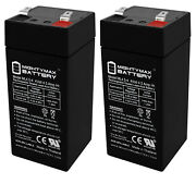 Mighty Max 2 Pack - 4 Volt 4.5 Ah Sla Battery For Fi-shock Electric Fence